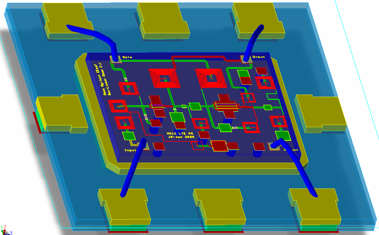 Mmic Design Microrel Operation And Uses Of Integrated Circuits A Monolithic Microwave Circuit Or Is Type Ic Device That Operates At Frequencies 300 Mhz To Ghz